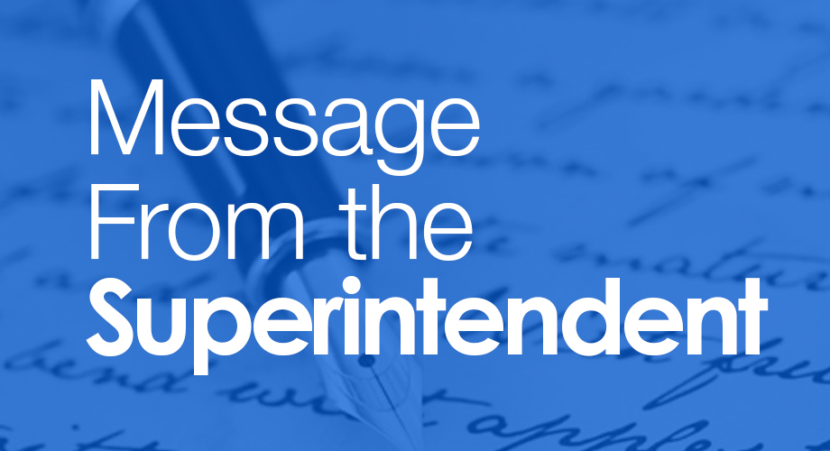 Superintendent's Message