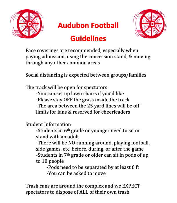Football Guidelines for 8-28-20